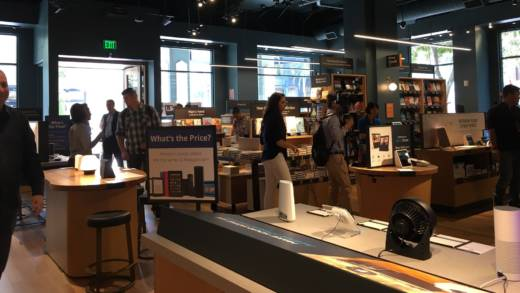 Amazon bookstores are expanding across the US. The latest one just opened in San Jose's swanky shopping mall, Santana Row.