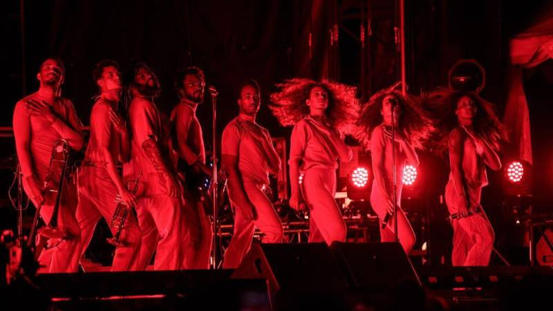 Solange performs Aug. 13, 2017, at the Outside Lands music festival in Golden Gate Park.