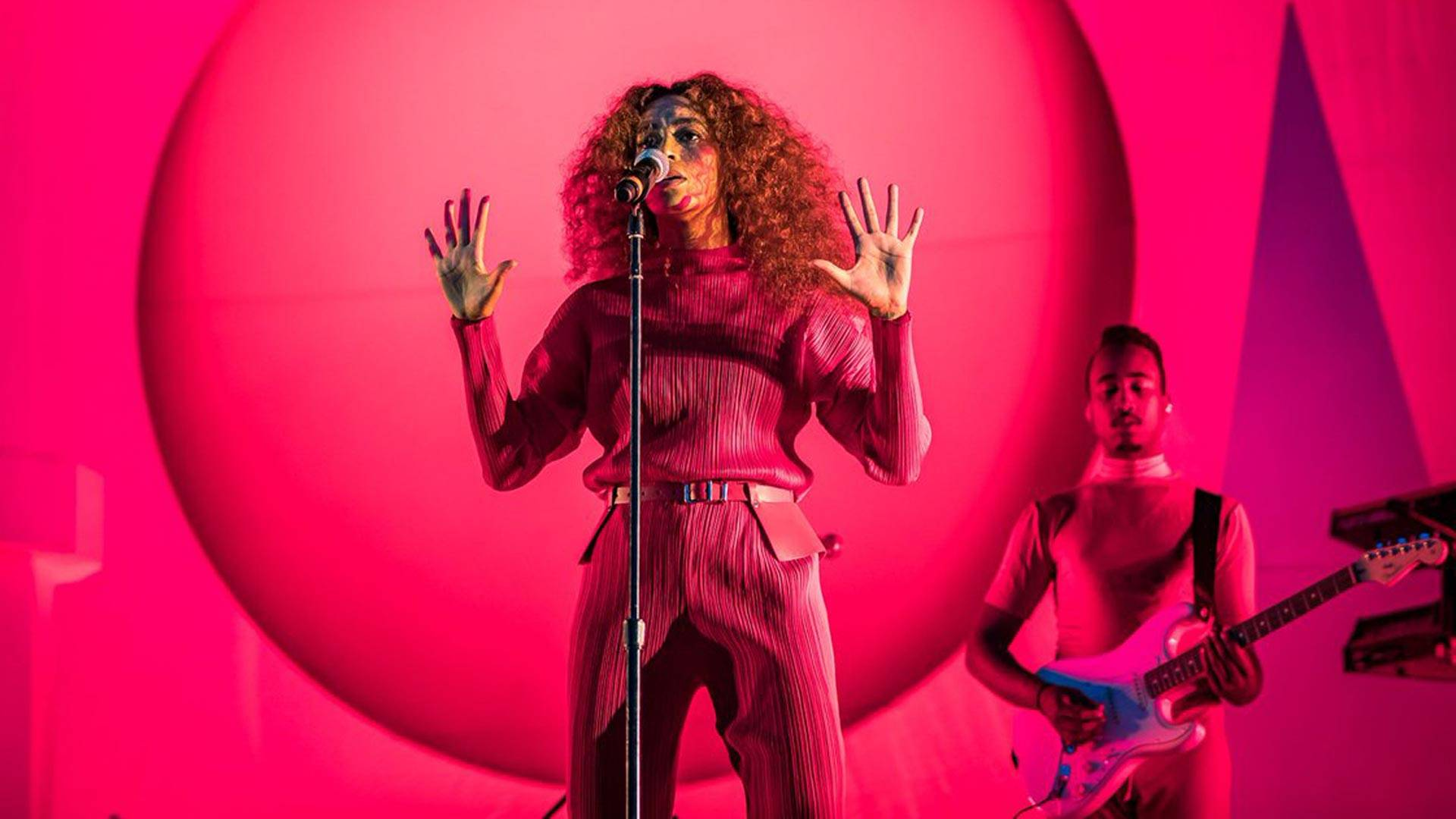 Solange performs Aug. 13, 2017, at the Outside Lands music festival in Golden Gate Park. Solange specifically offered support for her black, LGBTQ, and Muslim fans in the wake of the white nationalist violence in Charlottesville. via saintheron/Instagram