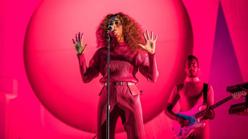 Solange performs Aug. 13, 2017, at the Outside Lands music festival in Golden Gate Park. Solange specifically offered support for her black, LGBTQ, and Muslim fans in the wake of the white nationalist violence in Charlottesville.