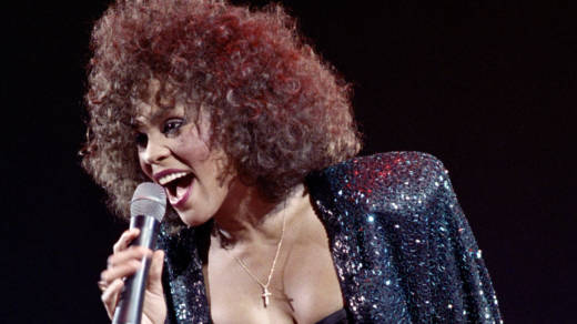 Whitney Houston performs in 1988. The new Showtime documentary, Whitney: Can I Be Me, includes footage of her world tour in 1999.