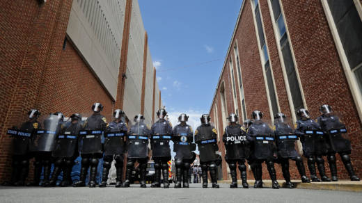 """Virginia State Police onAugust 13, 2017 in Charlottesville, Virginia, one day after a """"Unite the Right"""" rally ended in violence and one dead"""