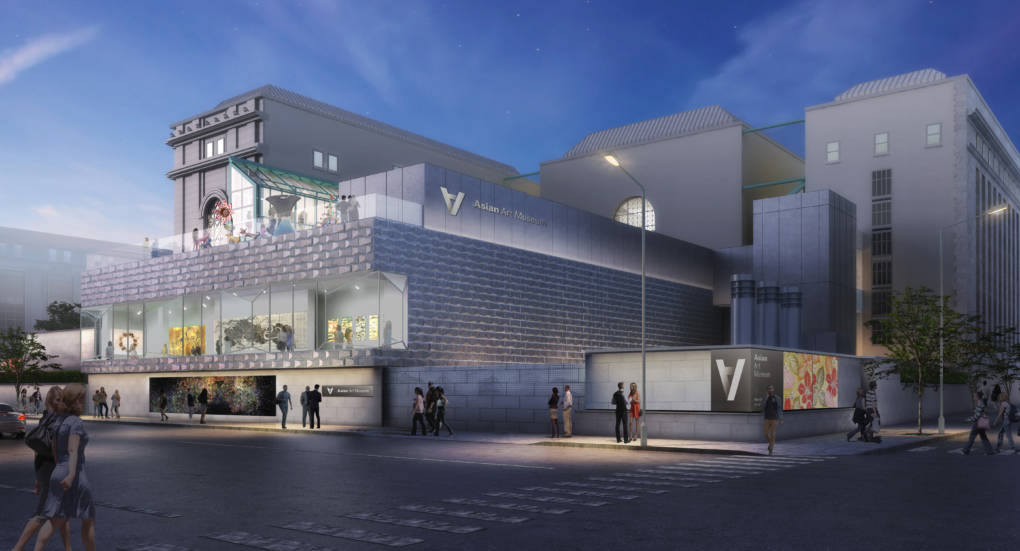 The Akiko Yamazaki & Jerry Yang Pavilion (exterior), concept design by wHY, 2017. Rendering © wHY and Asian Art Museum.