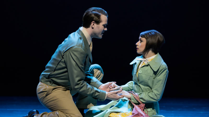 Jerry Mulligan (McGee Maddox) and Lise Dassin (Sara Esty) struggle but want to believe in true romance in 'An American in Paris' at the Orpheum.