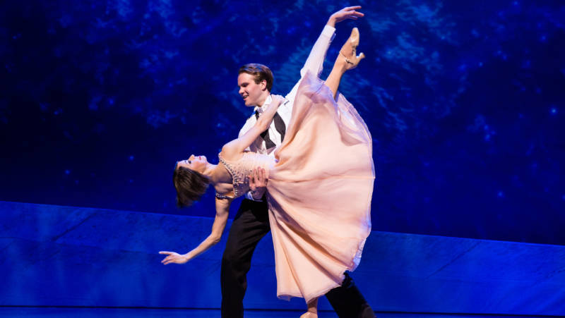 Jerry Mulligan (McGee Maddock) and Lise Dassin (Sara Esty) say in dance what they cannot in real life.