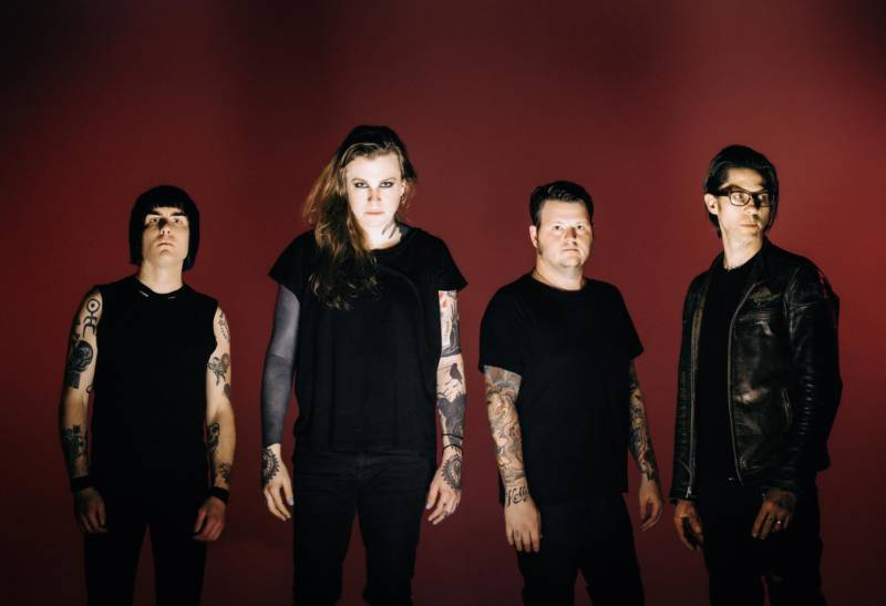 Against Me, with Laura Jane Grace, second from left.
