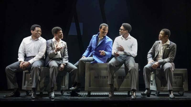 In 'Ain't Too Proud' Otis Williams (Derrick Baskin), Eddie Kendricks (Jeremy Pope), Melvin Frankling (Jared Joseph), David Ruffin (Ephraim Sykes), and Paul Williams (James Harkness) are real people who don't particularly come to life on stage.