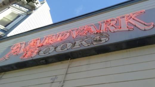 Outside Aardvark Books
