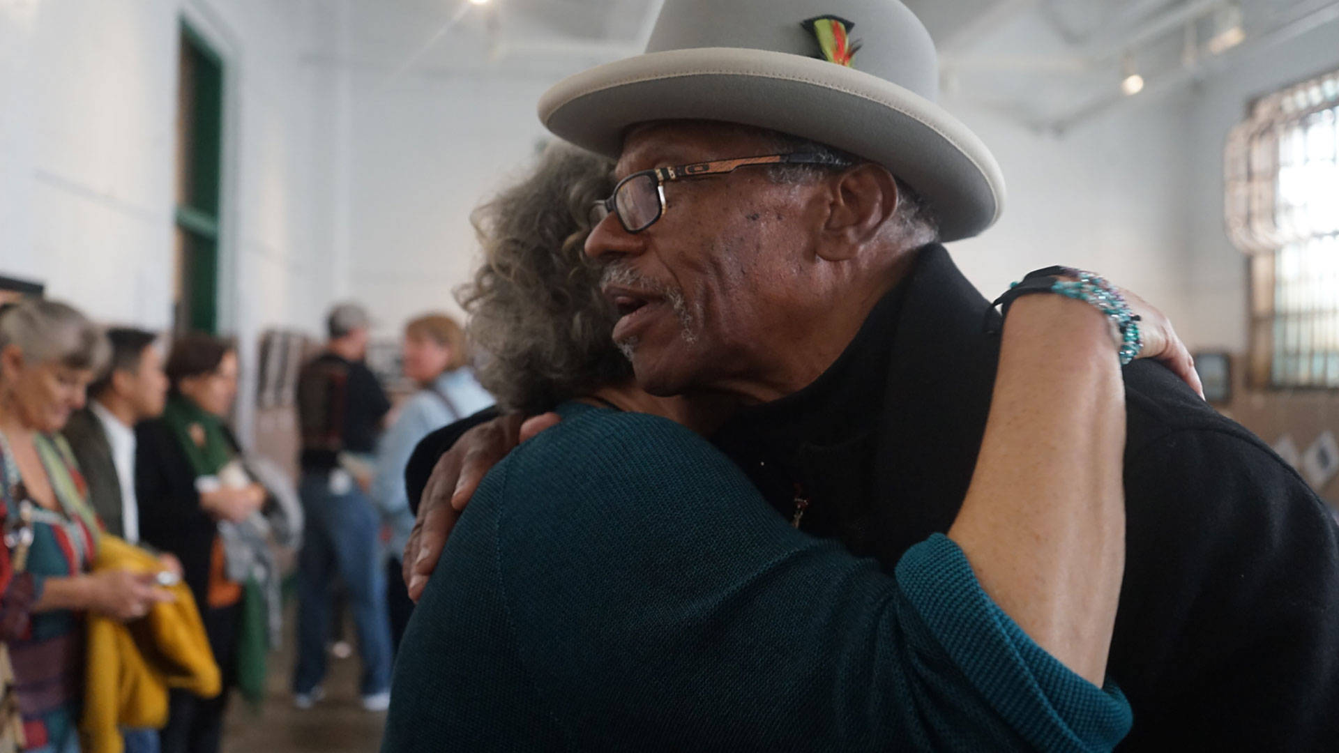 Watani Stiner visits Alcatraz State Prison in August. While incarcerated at San Quentin, Stiner took part in Brothers in Pens, a writing and art program.