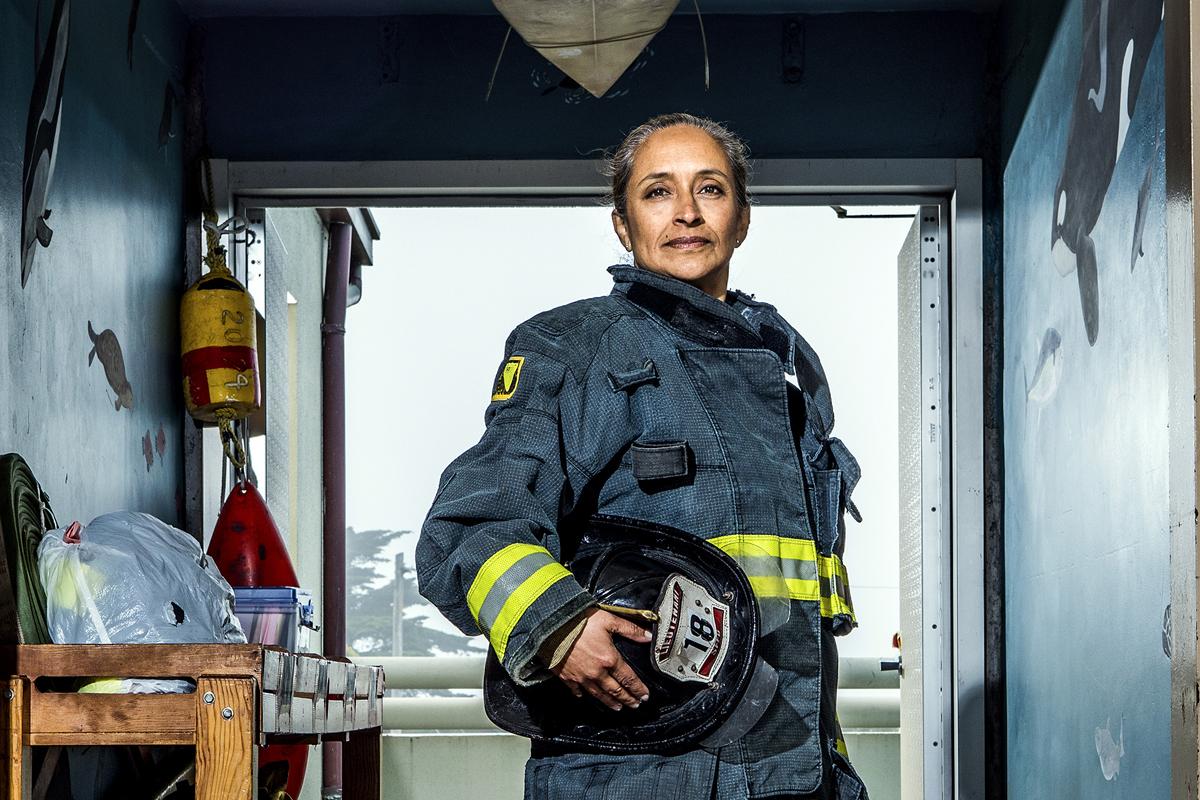 Christie Hemm Klok, 'Angela Romero - Lieutenant, 19 years.'