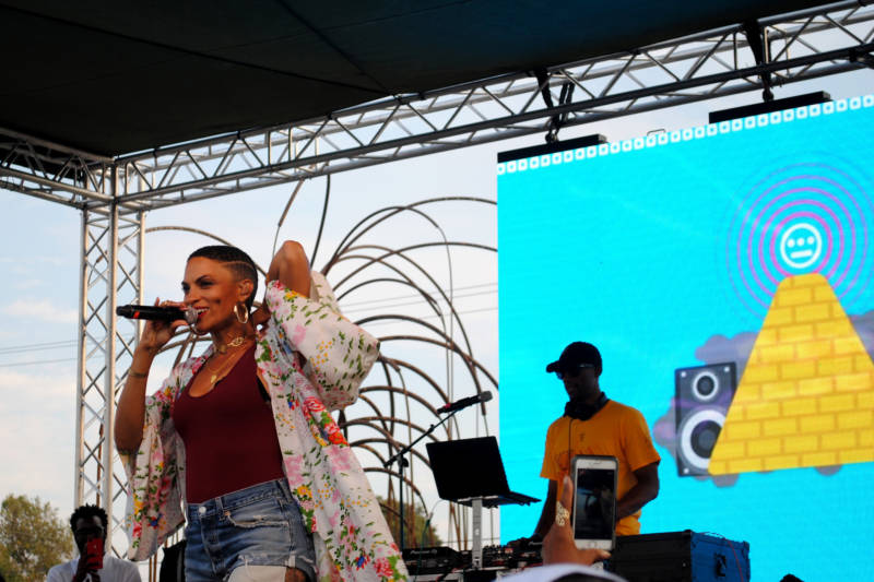 Goapele performs at Hiero Day 2017.