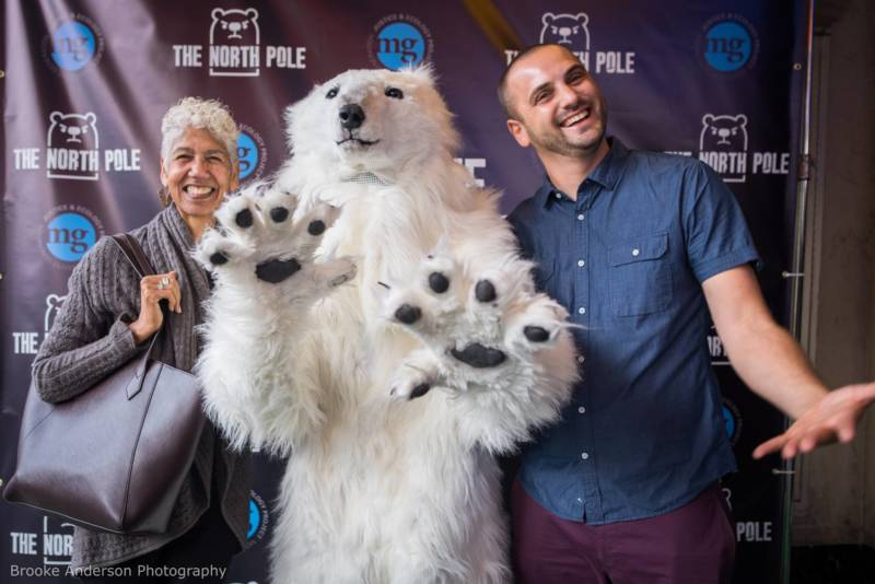 Ericka Huggins and producer Josh Healy at the premiere for 'The North Pole' at the Grand Lake Theater in Oakland, Sept. 7, 2017.