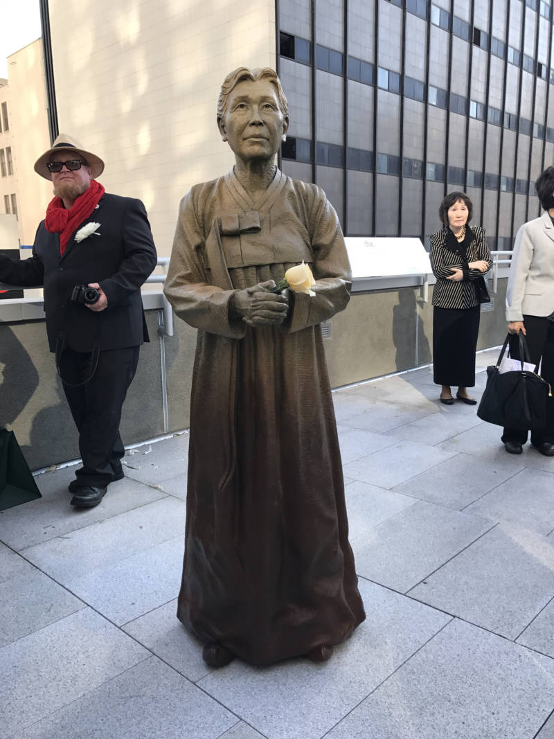 The fourth woman in San Francisco's comfort women memorial, 'Column of Strength.'