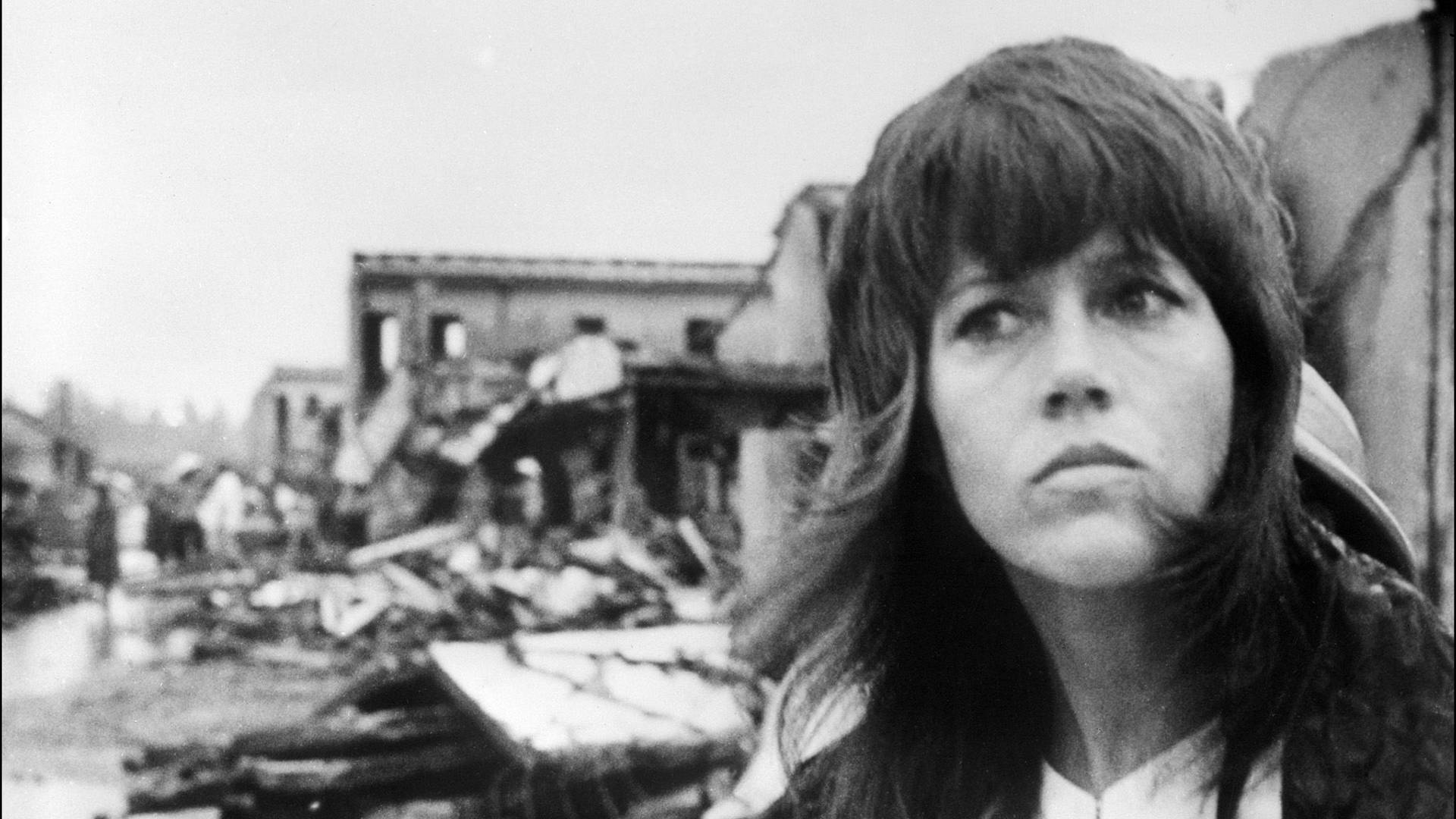 A photo dated 25 July 1972 of US actress Jane Fonda visiting Hanoi.