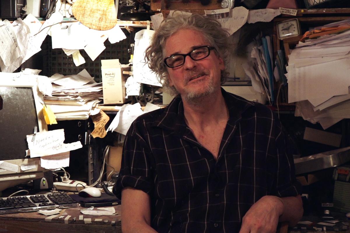 Craig Baldwin of Other Cinema in Cyrus Tabar's 'Masochism Of The Margins.'