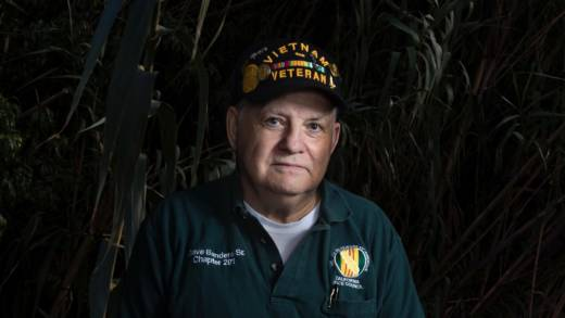 "Dave Sanders doesn't regret his willingness to enlist. ""We did what our country wanted - the military portion of our country and the politicians. But, you know, the more I know, the sadder I get."""