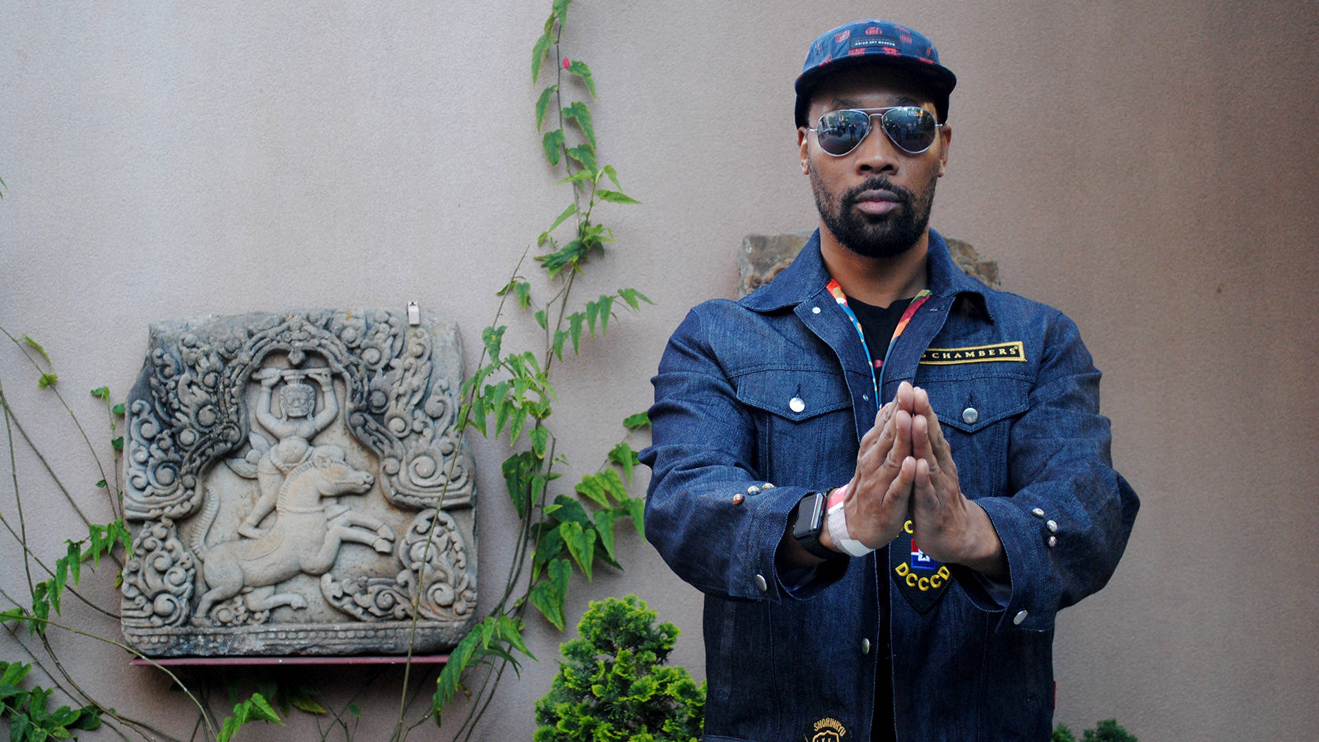 RZA at the launch party of his 36 Chambers fashion collection, which was inspired by an exhibit at San Francisco's Asian Art Museum.  Nastia Voynovskaya