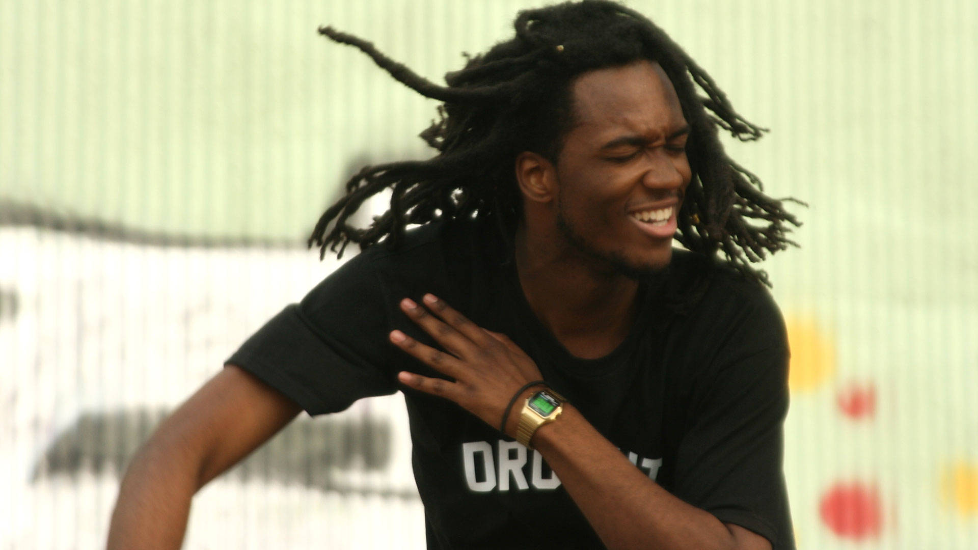 Saba, the Chance the Rapper affiliate from Chicago, performs at Hiero Day 2017 in West Oakland. Gabe Meline/KQED
