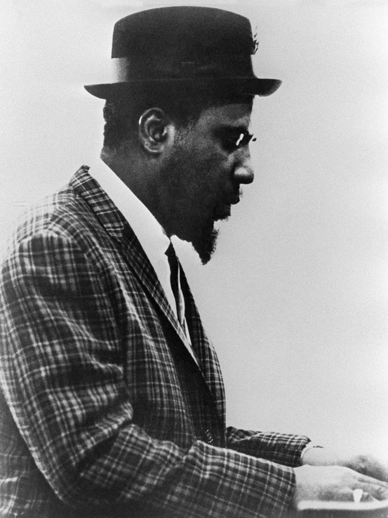 Thelonious Monk performs in an undated and unlocated picture