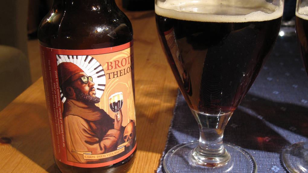 North Coast Brewing Co.'s Brother Thelonious beer (original picture cropped)