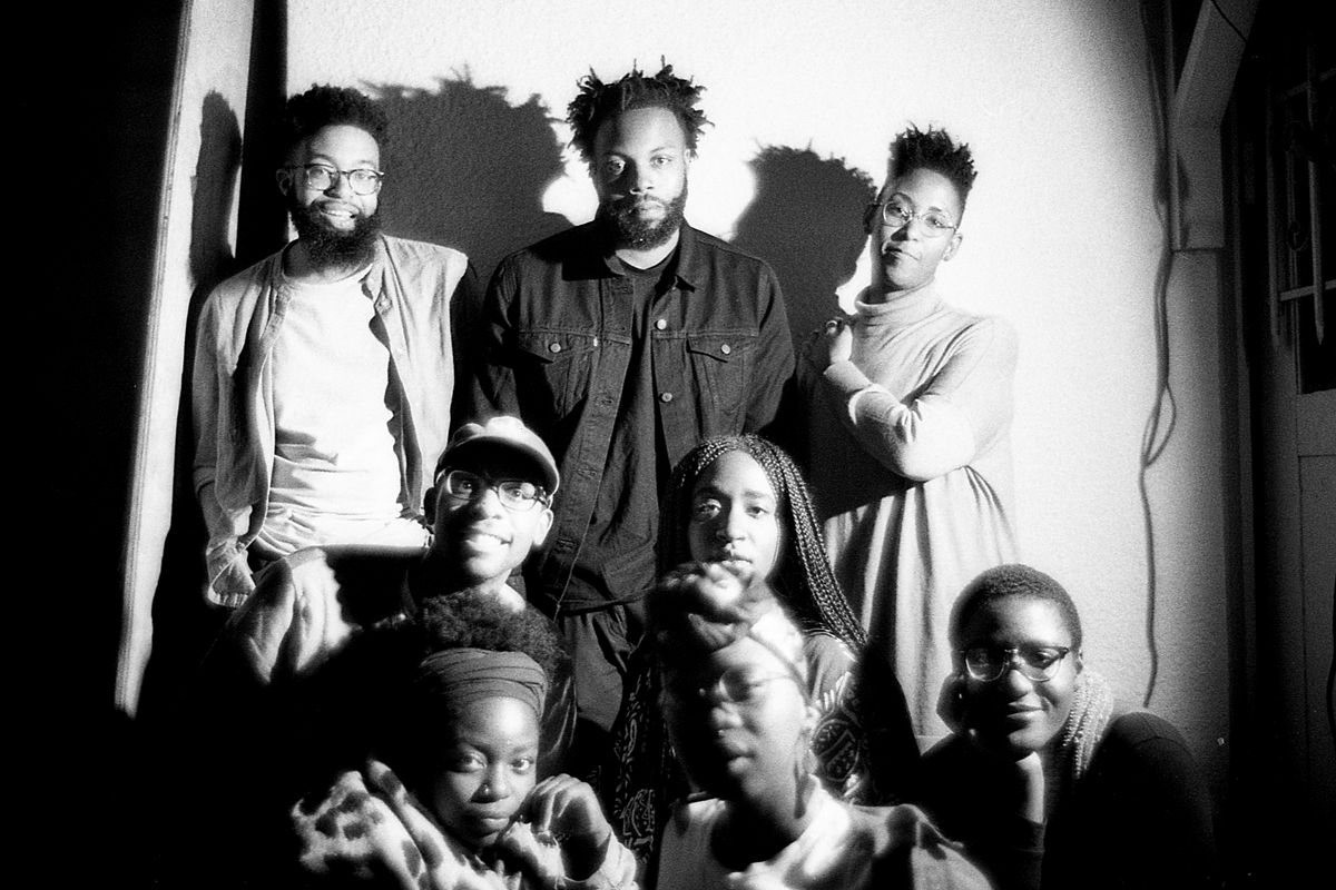 ​Top (L-R): Jamal Batts, Christian Johnson, Leila Weefur; Middle: Ryanaustin Dennis, Yetunde Olagbaju (Black Mail Collective); Front: Malika Imhotep, Zoé Samudzi, Soleil Summer (Black Mail Collective)