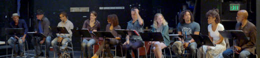 The cast of 'Thomas and Sally' begin rehearsals at the Marin Theatre Company