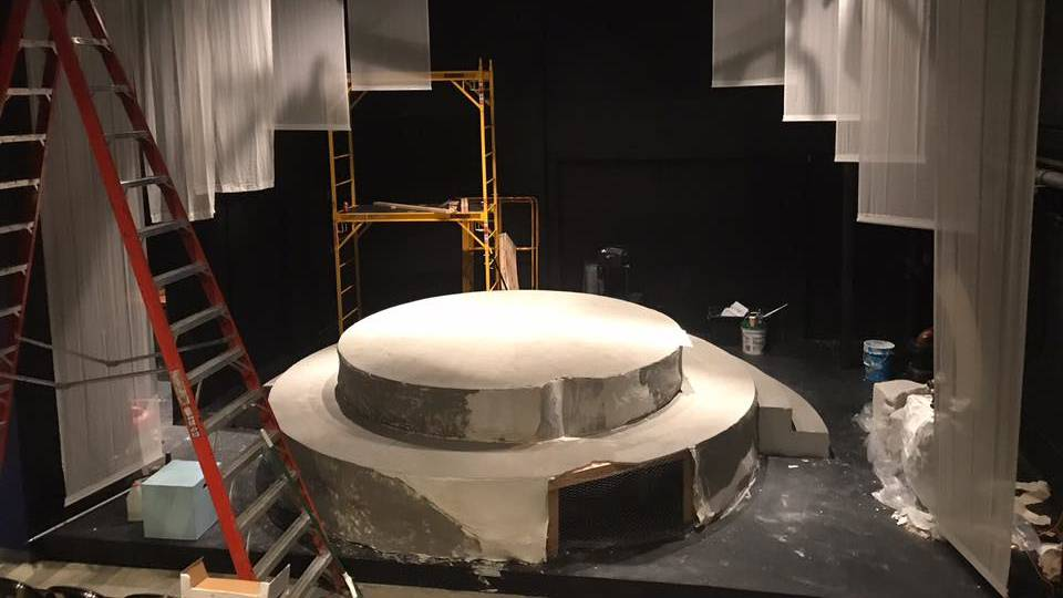 The set for 'A Tale of Autumn' by Christopher Chen at Croweded Fire Theater Company