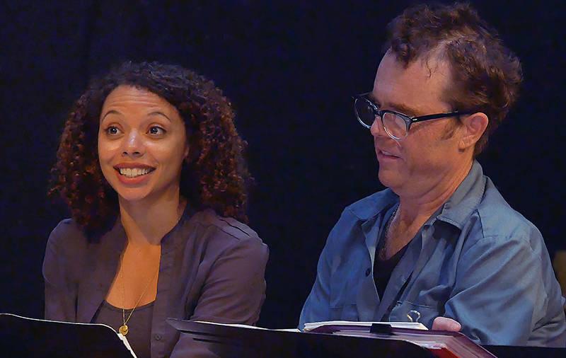 Tara Pacheco is Sally Hemings and Mark Anderson Phillips plays Thomas Jefferson in Thomas Bradshaw's play 'Thomas and Sally'