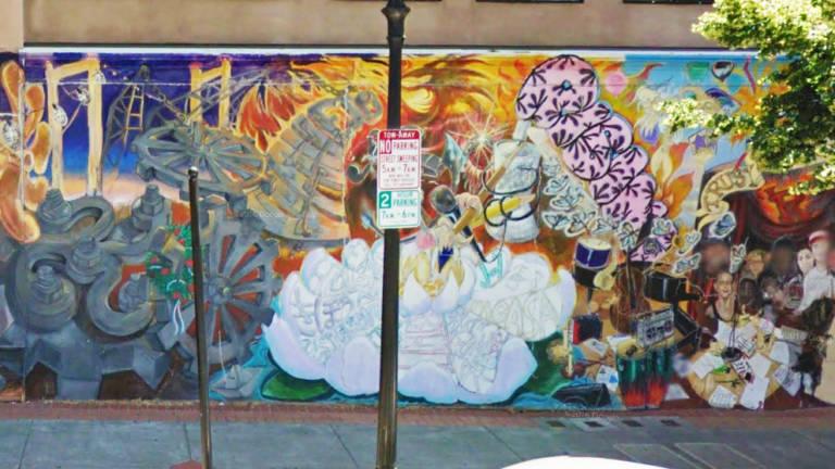 Rising mural