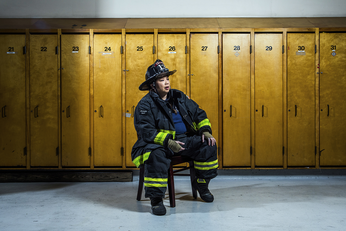 Christie Hemm Klok, 'Willa Ortega - Firefighter, 24 years.'