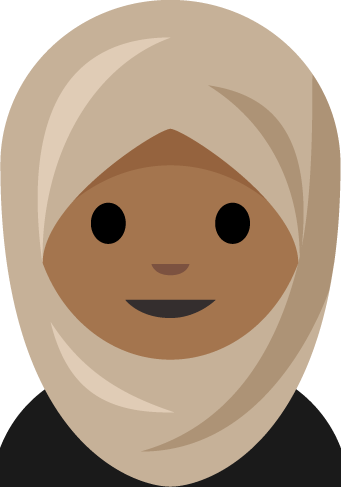 Aphee Messer has designed numerous emoji. She created this one of a girl in a hijab on behalf of a 15-year-old from Germany who realized there wasn't one.