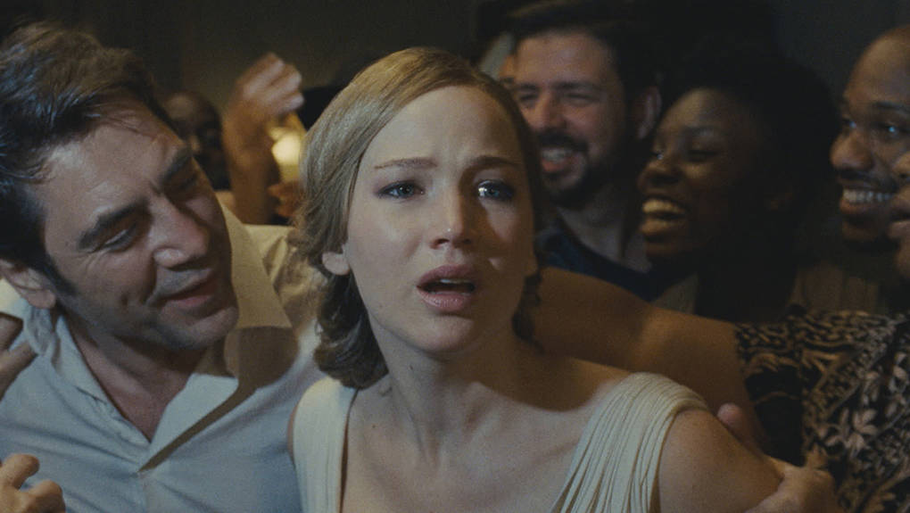Javier Bardem and Jennifer Lawrence in 'mother!'
