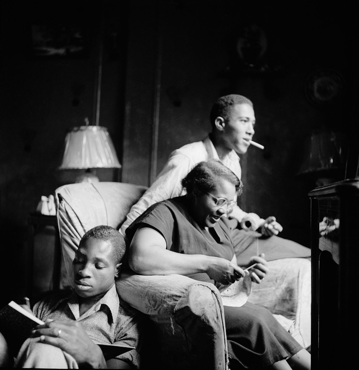 Gordon Parks, 'Red Jackson with His Mother and Brother, Harlem, New York,' 1948.