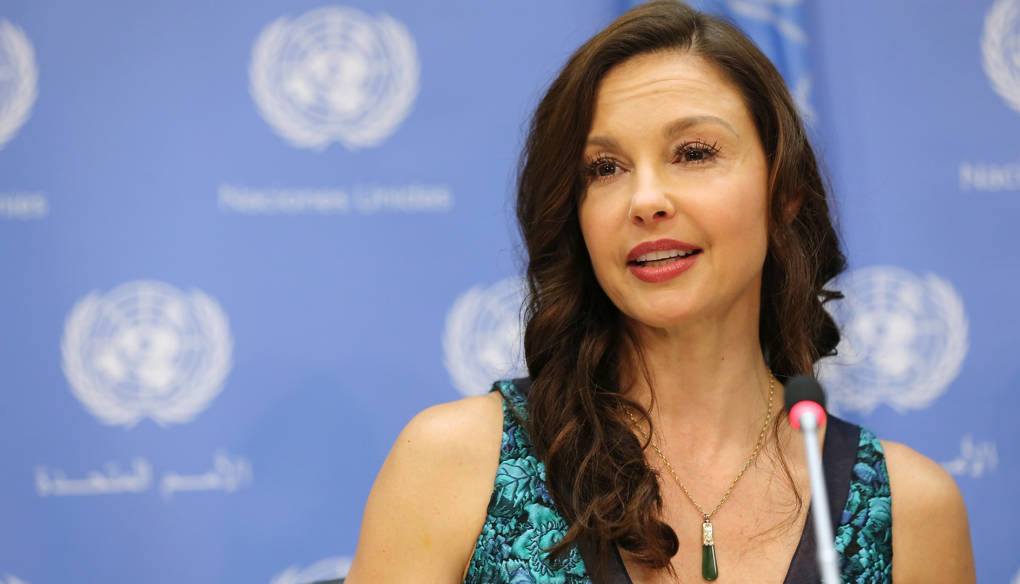 Ashley Judd speaks at a press conference held to announce her appointment as The UN Population Fund's (UNFPA) Goodwill Ambassador at United Nations on March 15, 2016 in New York City.