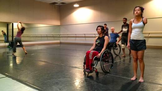 Axis Dance Company members rehearse their new piece 'Radical Impact'