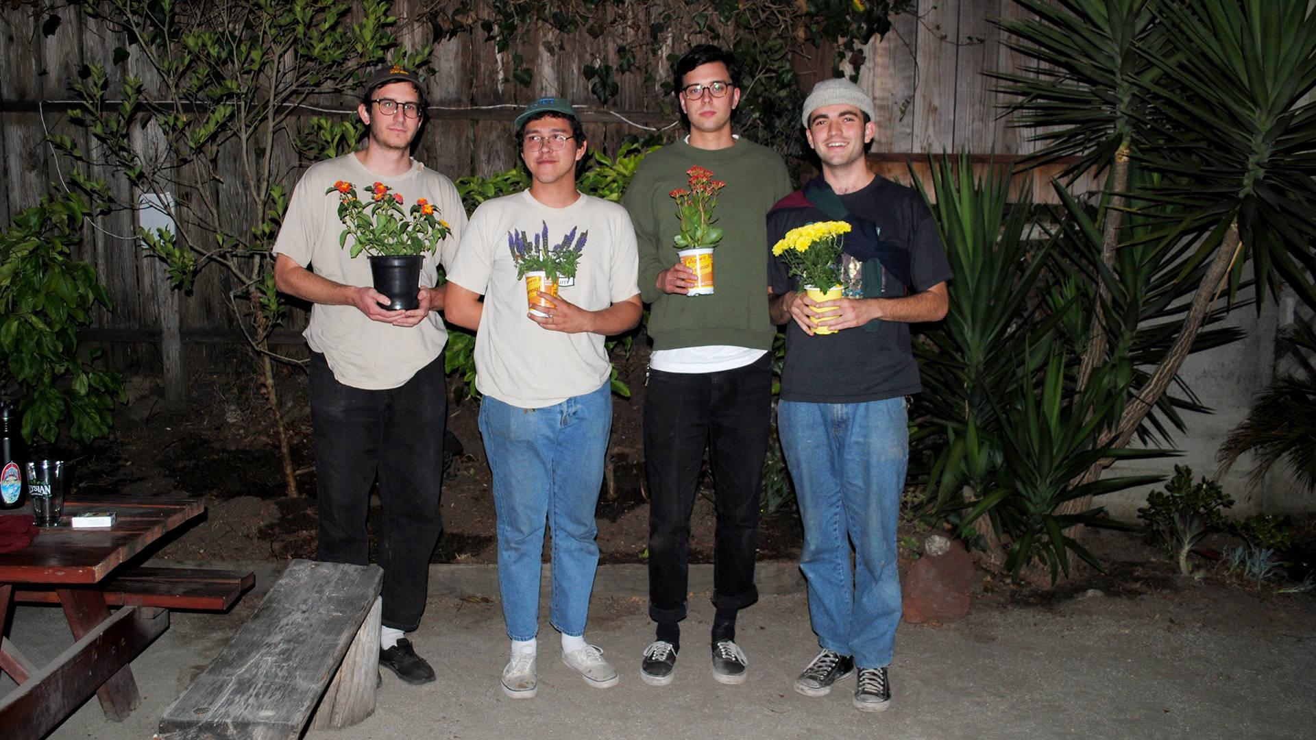 Pardoner's Trey Flanigan, Max Freeland, River Van Den Berghe, and Will Mervau (left to right) met at San Francisco State University.  Nastia Voynovskaya