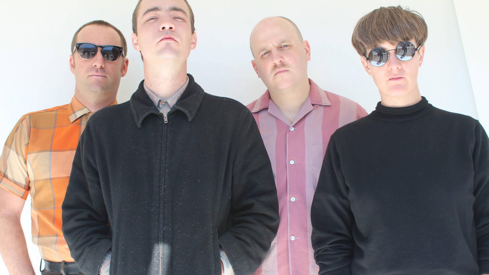 Flesh World's Andrew Luttrell, Sam Lefebvre, Scott Moore, and Jess Scott (left to right).  Andy Jordan