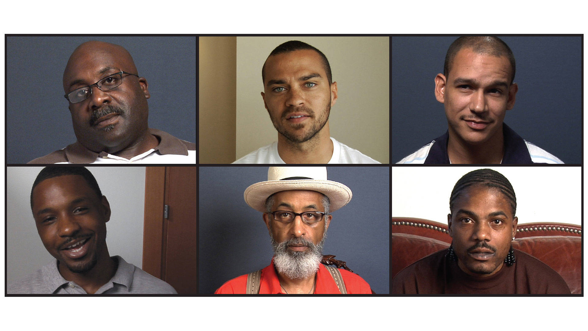 A still from Question Bridge: Black Males, created by Chris Johnson, Hank Willis Thomas, Bayete Ross Smith, and Kamal Sinclair.