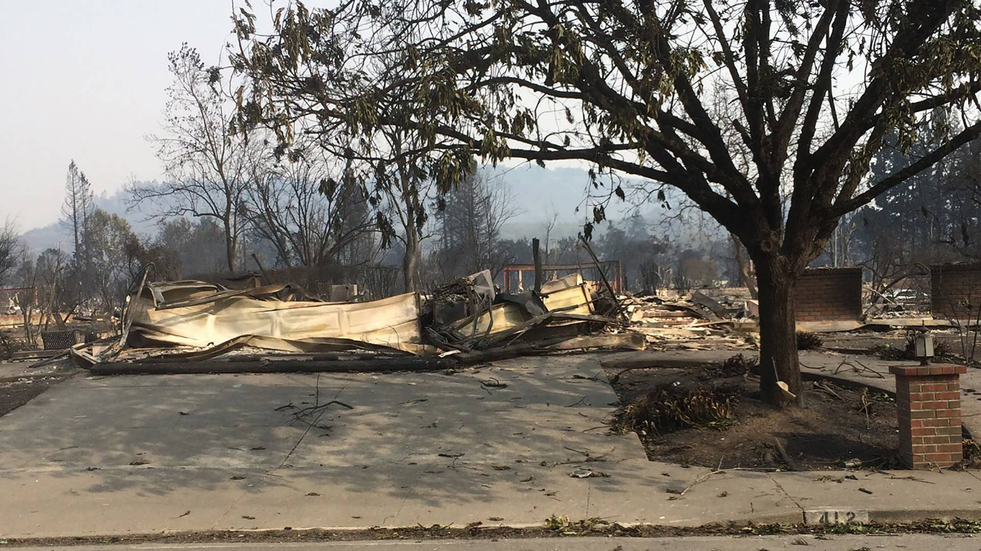 What's left of Music Junkie Press after the North Bay fires Courtesy of Marisol Richardson
