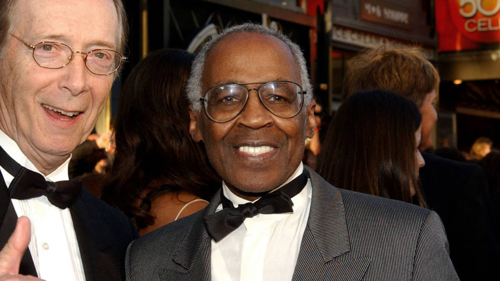 Bernie Kopell (L) and Robert Guillaume attend the ABC Television Network's 50th Anniversary Special at the Pantages Theatre on March 16, 2003 in Hollywood, California.