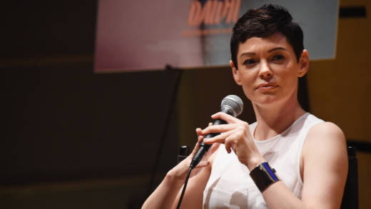 Rose McGowan takes part in the Q & A during the 'Dawn' New York screening and Q & A at the Elinor Bunin Munroe Film Center on June 24, 2015 in New York City.