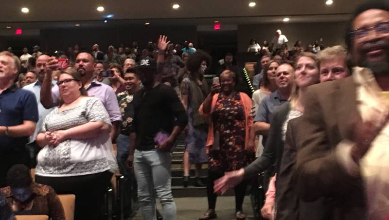 Audience members dance in the aisles at the Lavender Pen Tour concert in Jackson, Mississippi