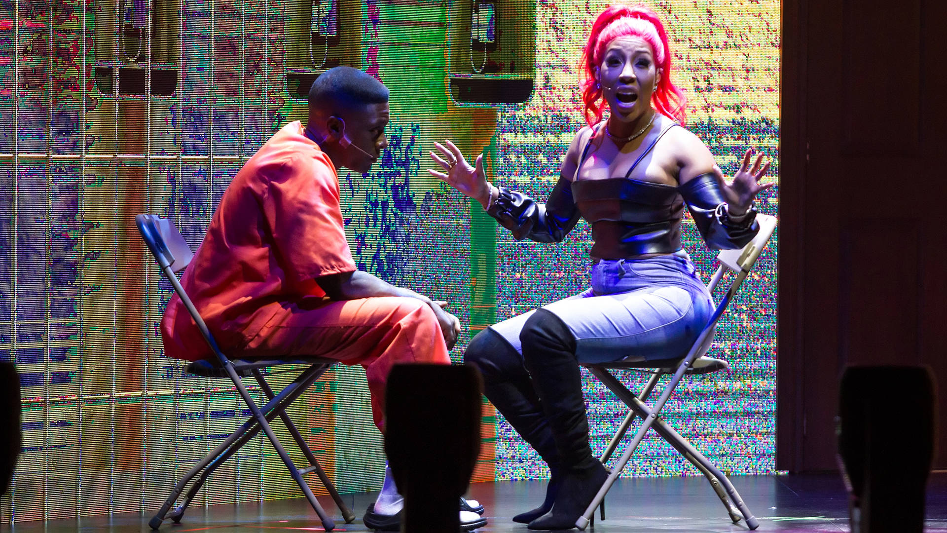 Kevin (Boosie Badazz) and Kelly (K. Michelle) in the opening scene of 'Thugs and the Women Who Love 'Em.' Jay Wiggins
