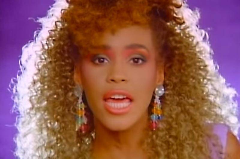 Whitney Houston in the video for 'I Wanna Dance With Somebody.'