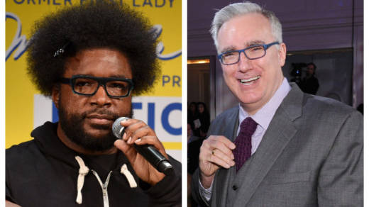 """How is [Keith] Olbermann on my side of the fence (politics) but not on my side (hip hop)?"" The Roots' Questlove pondered before creating his Keith O Challenge crash cour"