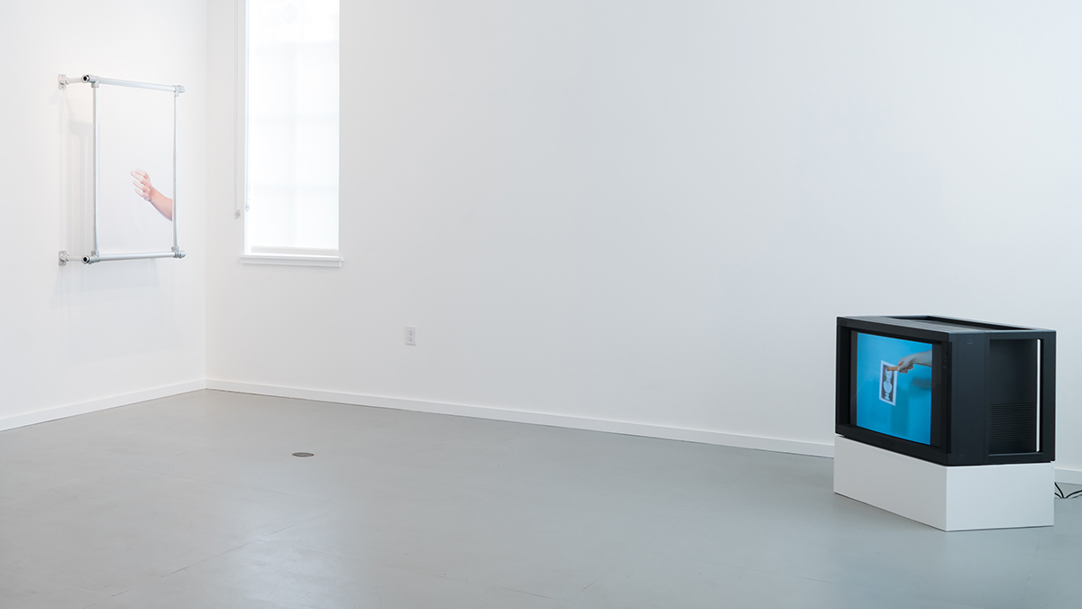 Installation view of 'Culture Industry' at Slide Space 123.