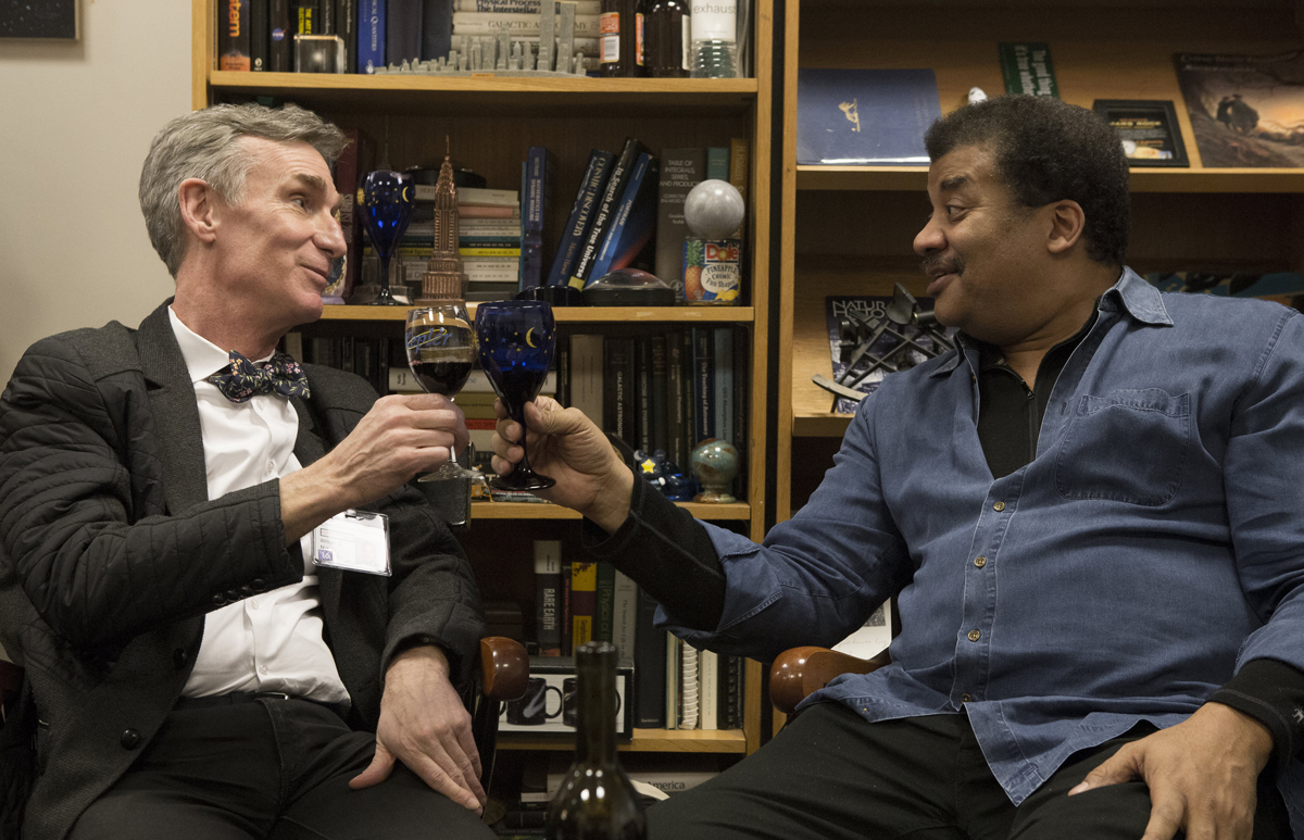 Bill Nye and Neil deGrasse Tyson in 'Bill Nye: Science Guy.'