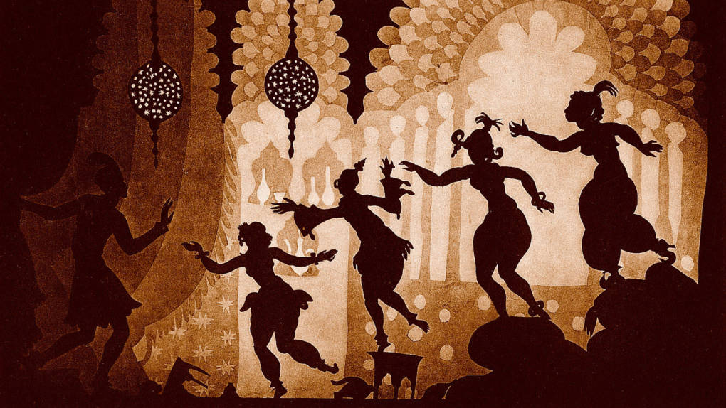 Prince Achmed on a magic isle in 'The Adventures of Prince Achmed.'