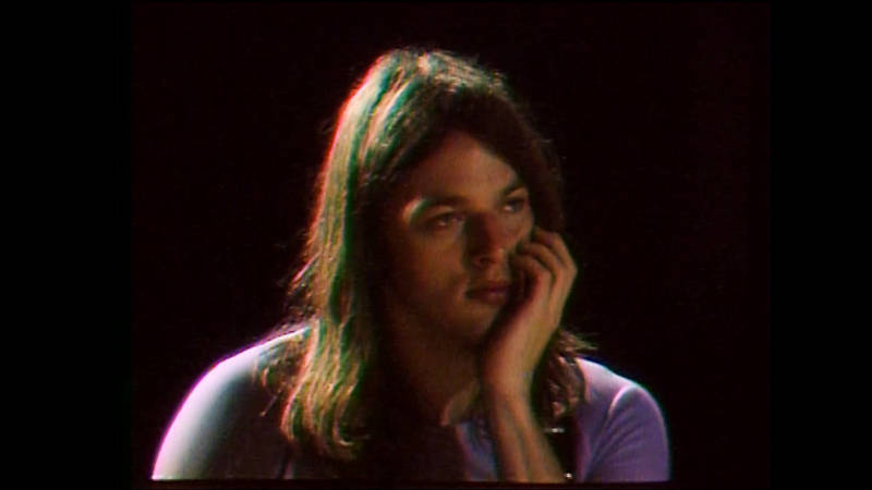 David Gilmour waiting to play