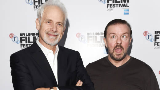 Christopher Guest and Ricky Gervais attend 'The Mascots' screening during the 60th BFI London Film Festival at Picturehouse Central on October 9, 2016 in London, England. Guest will interview Gervais as part of a tribute to the comedian during the 2018 SF Sketchfest.